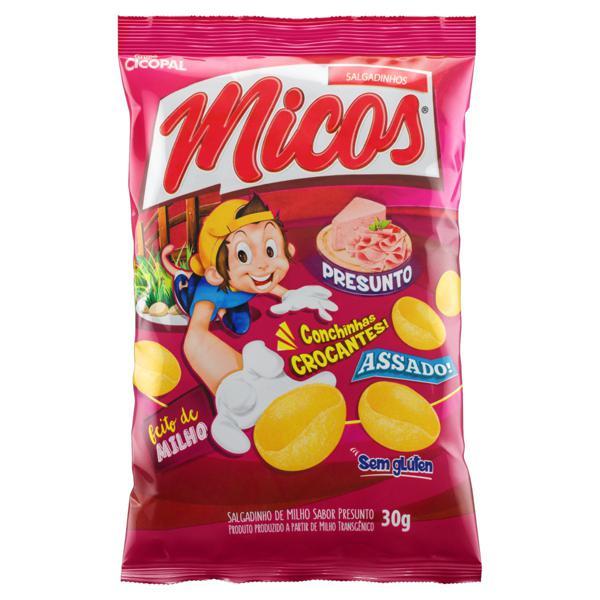 Salgadinho de Milho Presunto Micos Pacote 30g