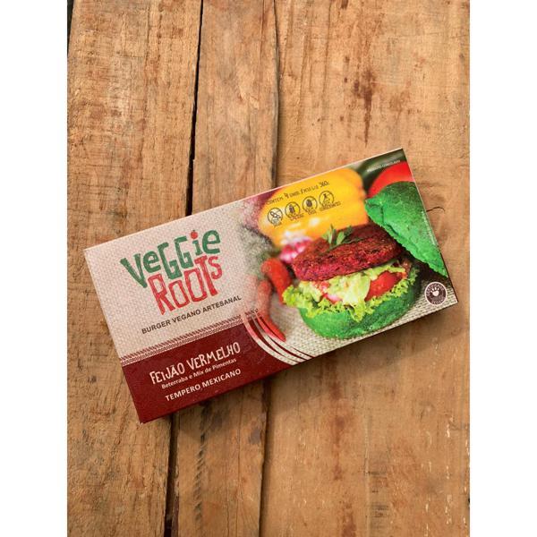 Hambúrguer Vegano - Feijão Vermelho (tempero mexicano) - 4 unid. de 90g