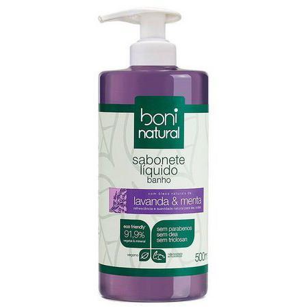 Sabonete líquido lavanda e menta 500ml - Boni