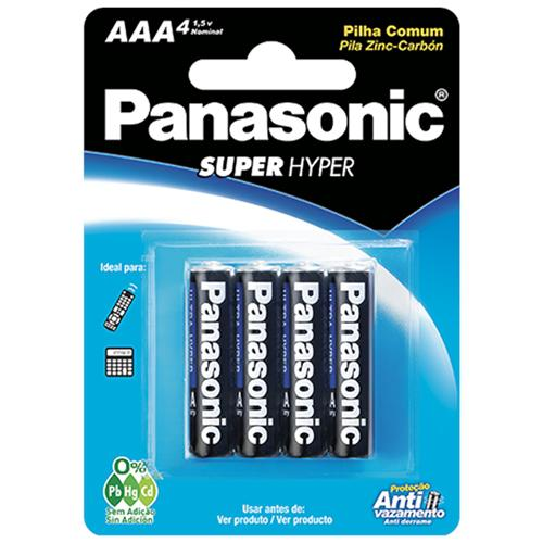 Pilha Panasonic Ultra Hyper Aaa C 4