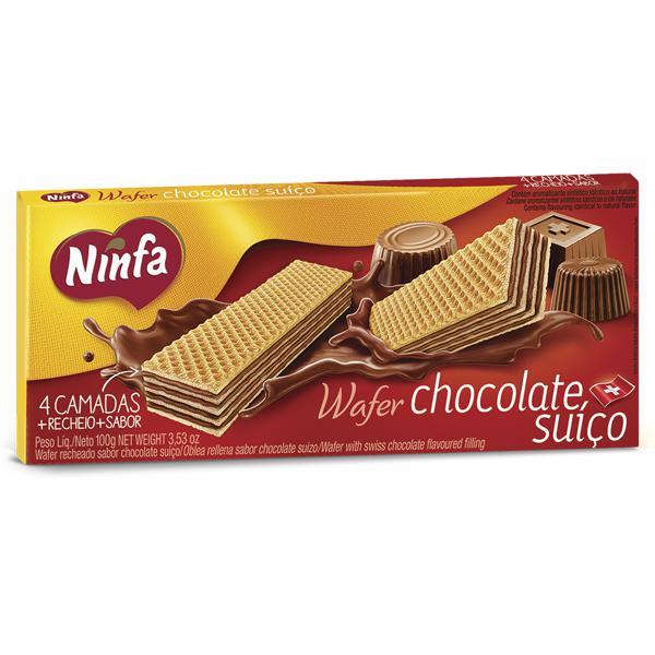 Biscoito Ninfa Wafer 100G Pacote Choc.Suiço