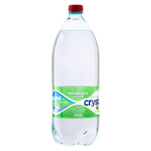 Água Mineral Natural com Gás Acqua Lia Crystal Garrafa 1,5l