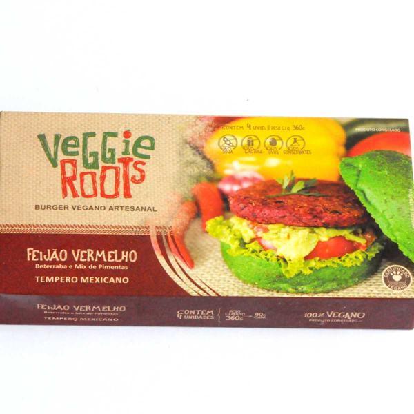 Burger Vegano Mexicano, 4 unidades de 90g, total 360g - Veggie Roots