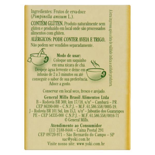 Chá Erva-Doce Lin Tea Caixa 20g 10 Unidades