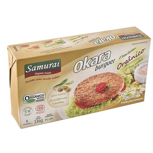 Hamburguer de Soja e Azeitonas Verdes Orgânico 6x56g - Samurai