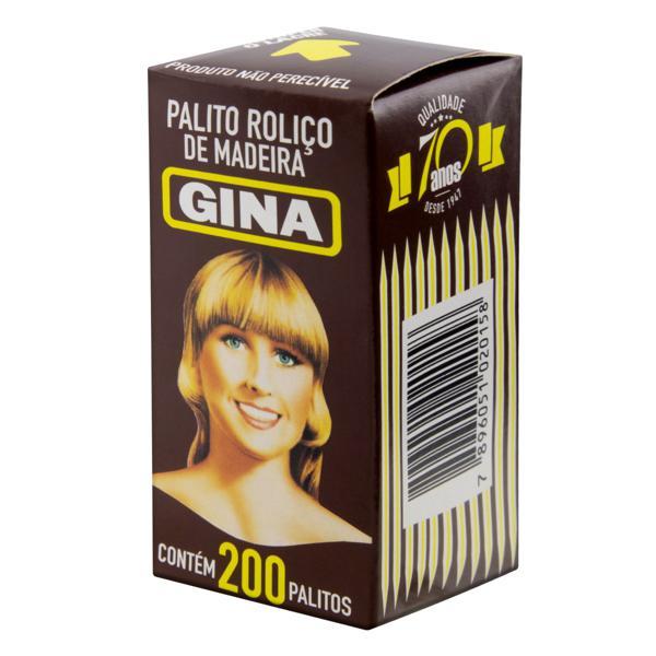 Palito Roliço Gina Caixa 200 Unidades