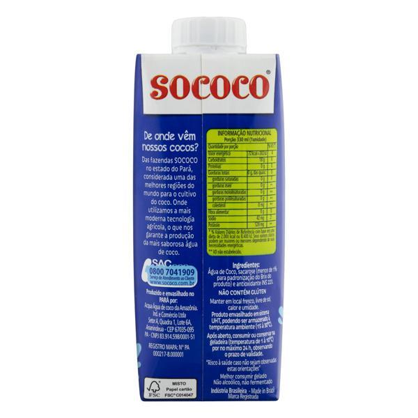 Água de Coco Esterilizada Sococo Caixa 330ml