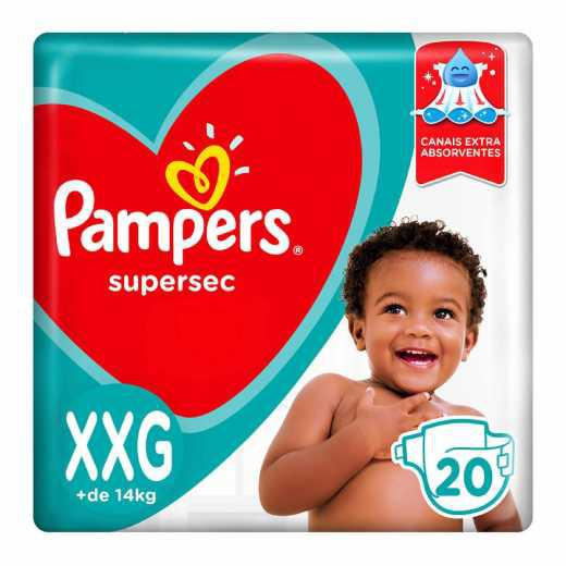 Fralda PAMPERS Supersec XXG 20X1