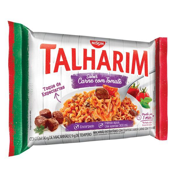 Macarrão Instantâneo Carne com Tomate Nissin Miojo Talharim Pacote 99g
