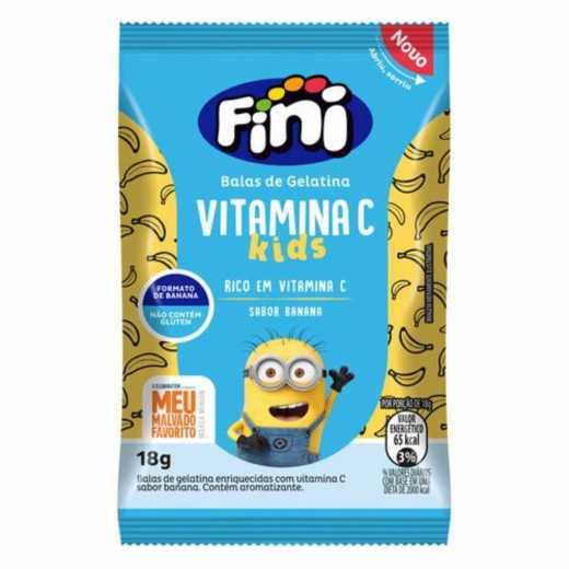 Bala de Gelatina FINI BEM ESTAR Vitamina C Bananinha Minions 18g