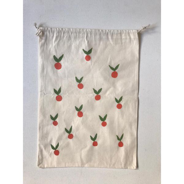 Saco de algodão para guardar legumes e verduras