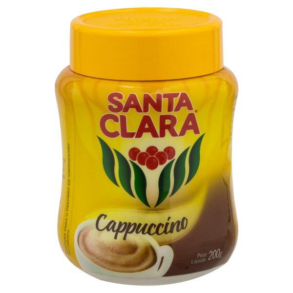 Cappuccino Solúvel Santa Clara Pote 200g