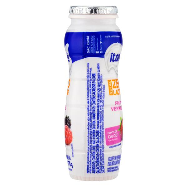 Iogurte Parcialmente Desnatado Frutas Vermelhas Zero Lactose Itambé Nolac Frasco 170g