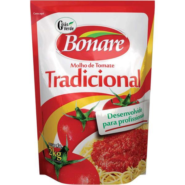 Molho de Tomate BONARE Tradicional Sachê 2kg