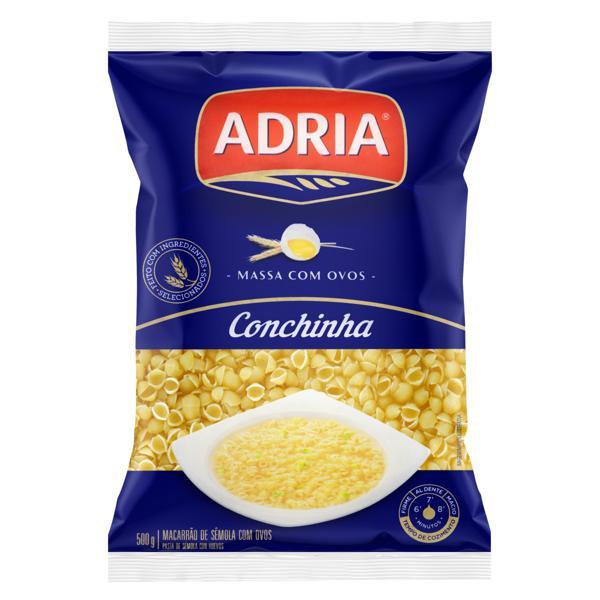 Macarrão de Sêmola com Ovos Conchinha Adria Pacote 500g