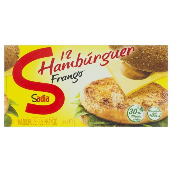 Hambúrguer de Frango Sadia Caixa 672g 12 Unidades
