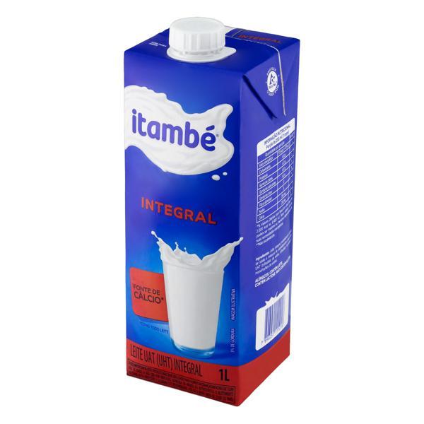 Leite UHT Integral Itambé Caixa com Tampa 1l