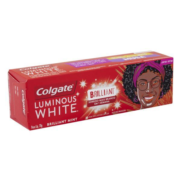 Creme Dental Brilliant Mint Colgate Luminous White Caixa 70g