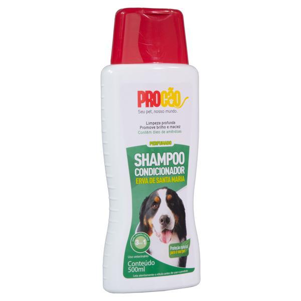 Shampoo e Condicionador para Cães e Gatos Perfumado Erva Santa Maria Procão Frasco 500ml