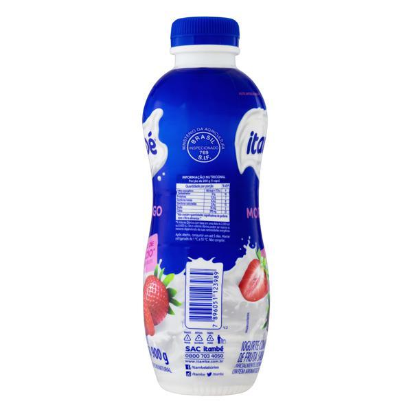 Iogurte Parcialmente Desnatado Morango Itambé Garrafa 900g