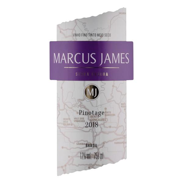 Vinho Brasileiro Tinto Meio Seco Marcus James Pinotage Serra Gaúcha Garrafa 750ml