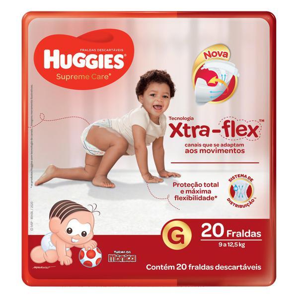 Fralda Descartável Infantil Huggies Supreme Care G Pacote 20 Unidades