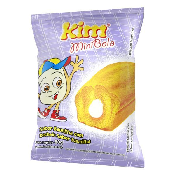 Minibolo Baunilha Recheio Baunilha Kim Pacote 80g 2 Unidades