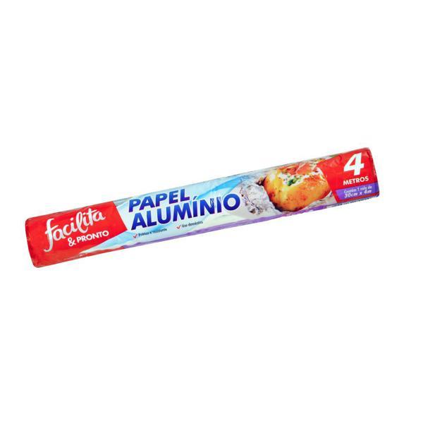 Papel Alumínio Facilita & Pronto 30cmX4m