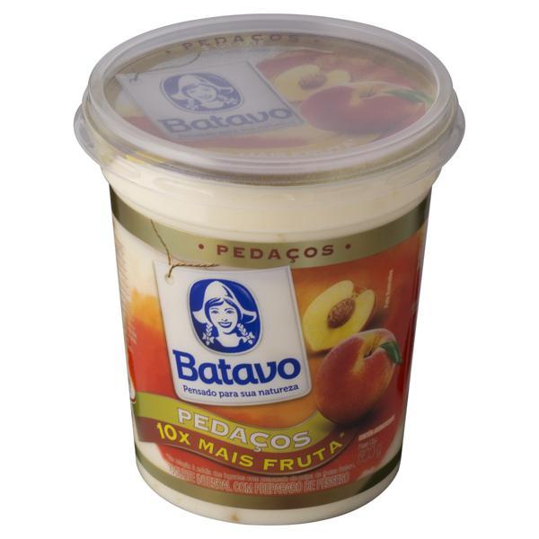 Iogurte Integral Pêssego Batavo Pedaços Pote 500g