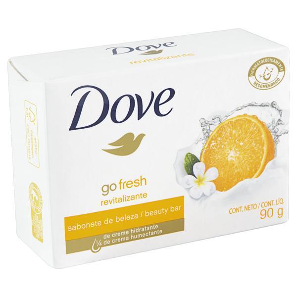 Sabonete em Barra Tangerina e Flor de Gardênia Dove Go Fresh Caixa 90g