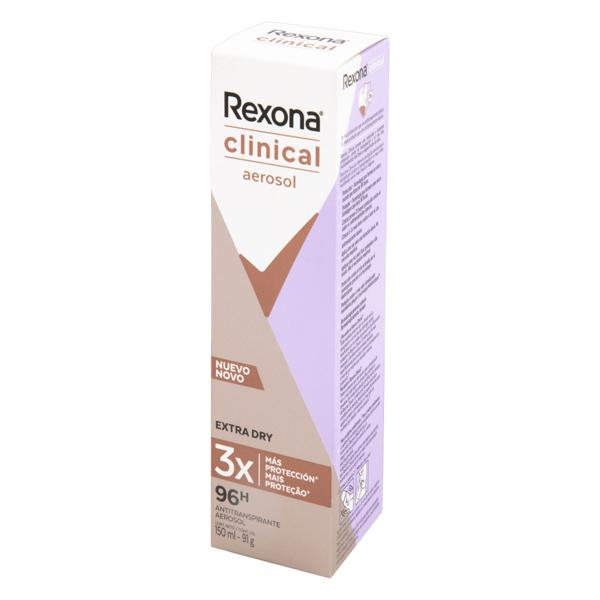 Desodorante Aerosol Extra Dry Rexona Clinical 150ml