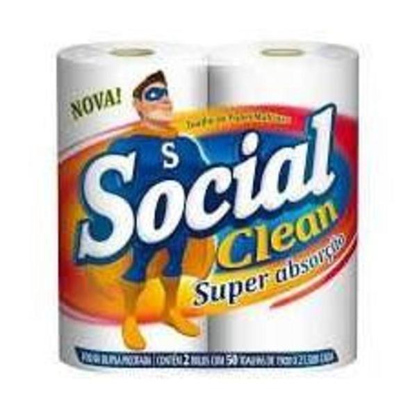 Papel Toalha SOCIAL CLEAN com 2 Unidades