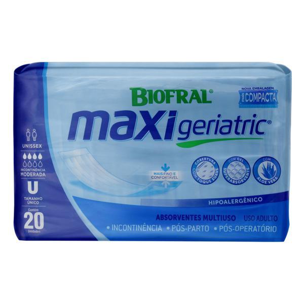 Absorvente Pós-Parto/Pós-Operatório Unissex Biofral Maxi Geriatric Tamanho Único Pacote 20 Unidades