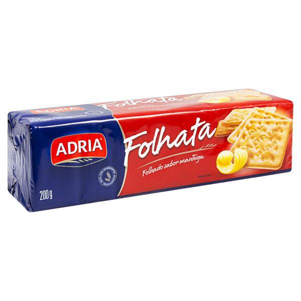 Biscoito Cream Cracker Manteiga Adria Folhata Pacote 200g