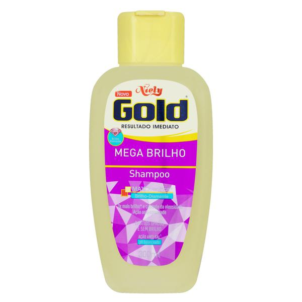 Shampoo Niely Gold Mega Brilho Frasco 300ml