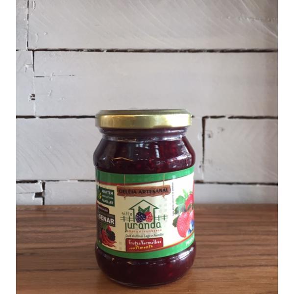 Geleia de frutas vermelhas com pimenta 240g - Sítio Juranda
