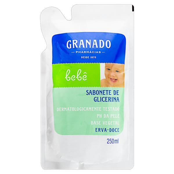 Sabonete Líquido de Glicerina Erva-Doce Granado Bebê Sachê 250ml Refil