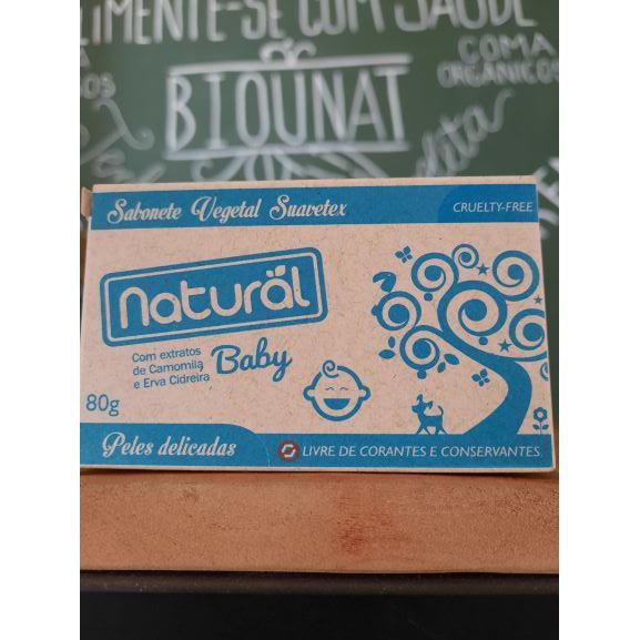 Sabonete Natural Baby Camomila 80g NATURAL ORGÂNICO