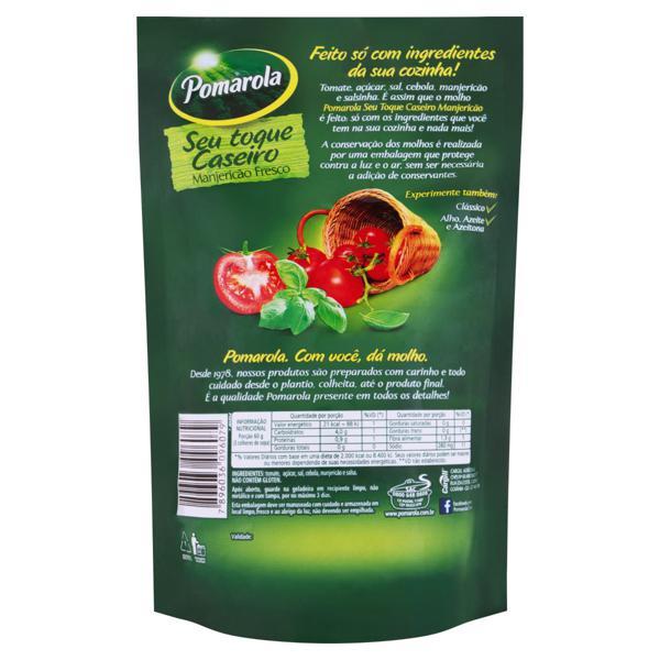 Molho de Tomate com Manjericão Pomarola Sachê 300g