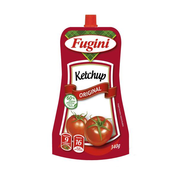 Ketchup FUGINI Tradicional Sachet C/Bico 340g
