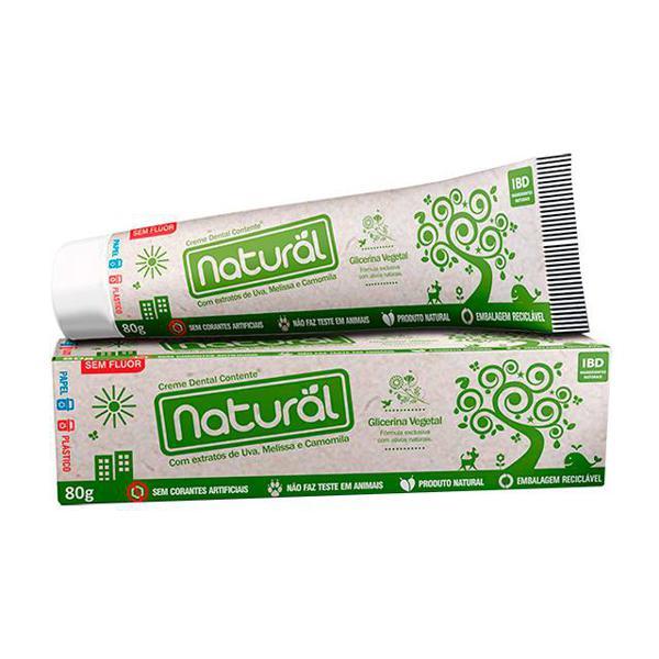 Creme Dental Com Extrato de Uva, Melissa e Camomila 80g - Orgânico Natural