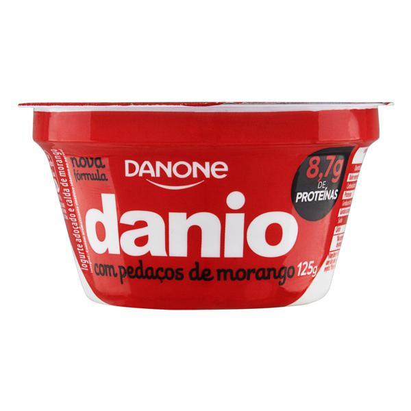 Iogurte Integral Calda Morango Danio Pote 125g