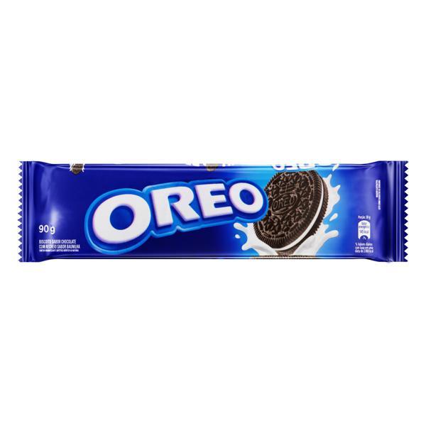 Biscoito Chocolate Recheio Baunilha Oreo Pacote 90g