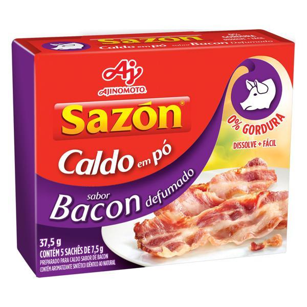 Caldo em Pó Bacon Defumado Sazón Caixa 37,5g 5 Unidades