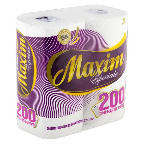Toalha de Papel Folha Dupla Maxim Especiale 22cm x 20cm Pacote 2 Unidades