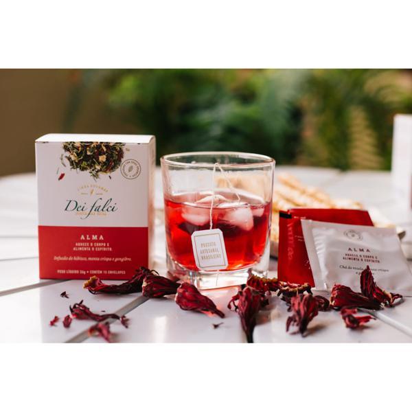 Chá alma - rosela, menta crispa e gengibre orgânicos (15 unds)