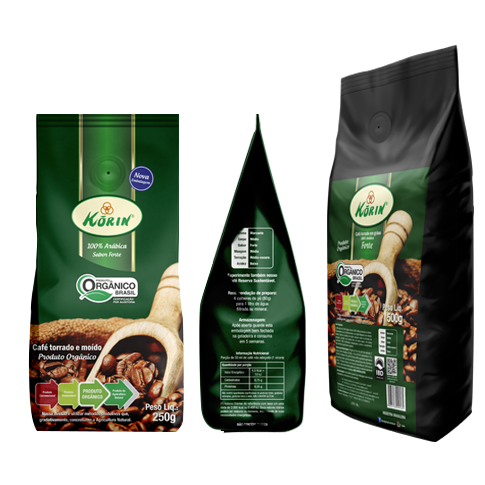 Café Torrado e Moído Orgânico Korin 250 g