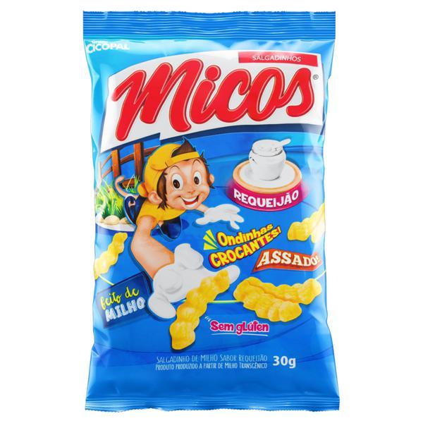 Salgadinho de Milho de Requeijão Micos Pacote 30g