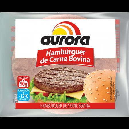 Hamburguer Aurora 90G Carne Bov