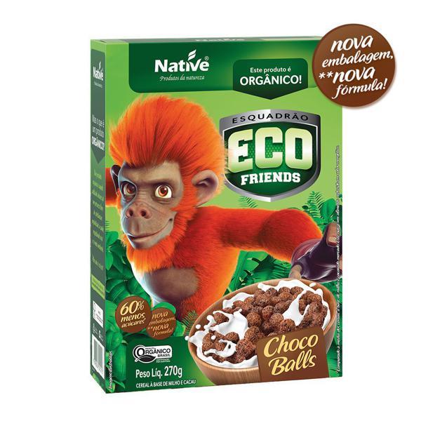 Cereal choco balls orgânico Eco Friends Native - 270 g